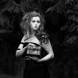 Michaela  by Michaela Firešová - Black & White Portraits & People ( black and white, female, portrait )