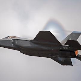 F-35A Lightning II RIAT 18 by Steve Wright - Transportation Airplanes ( lightning, usaf, f-35, warplane, fighter, riat )
