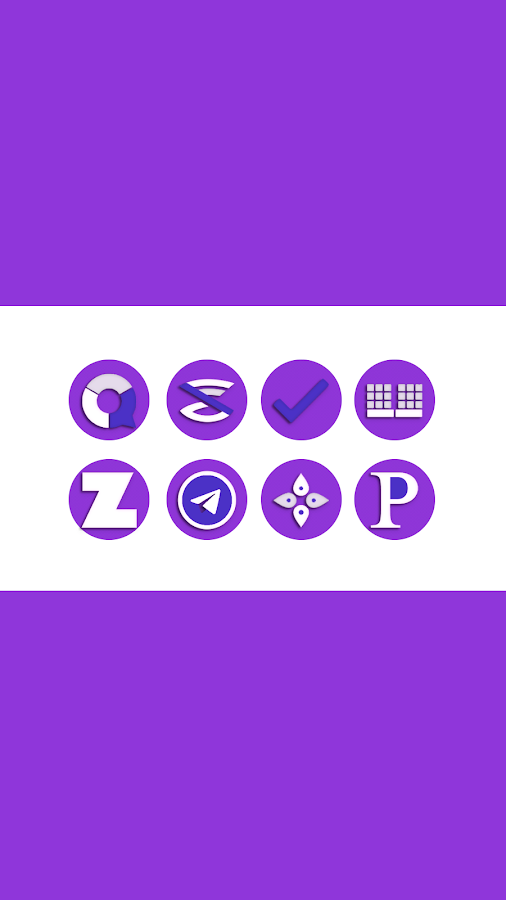 OJ Purple - Round Icon Pack Screenshot 1