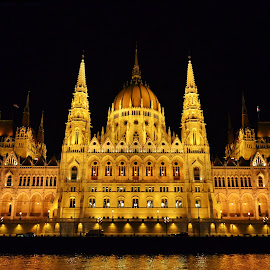 Budabest center by Mladjan Pajkic - Buildings & Architecture Public & Historical ( budapest, building, danube, river, nightscape )