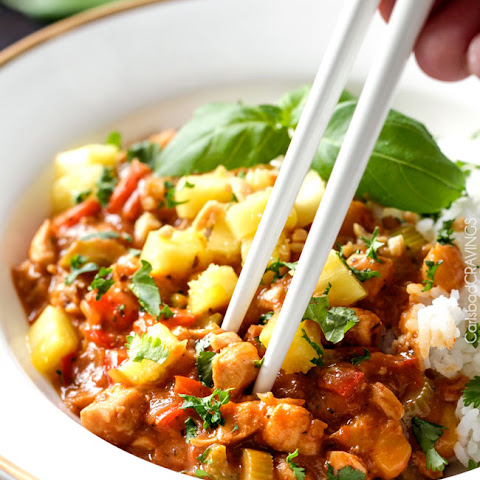 Pineapple Red Curry Chicken Stir Fry