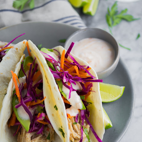 Sweet Chili Chicken Tacos with Yogurt Sauce