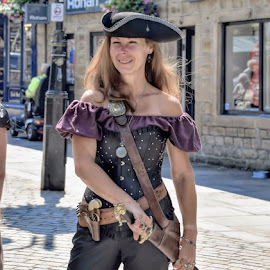stream punk by Betty Taylor - People Street & Candids ( candid, steampunk., dressing up, portrait, female )