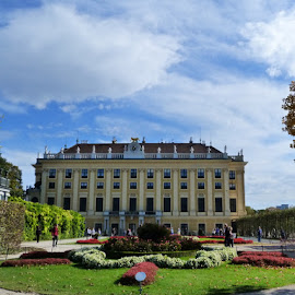 Autumn in Schonbrunn by Helena Moravusova - Buildings & Architecture Public & Historical ( vienna, autumn, schonbrunn )