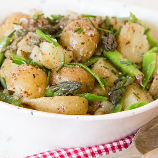 Smashed New Potato, Asparagus & Pea Salad