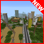 Greenvilgecity MCPE map