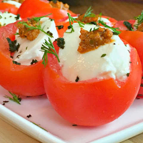 Mozzarella-stuffed Tomatoes With Sun-dried Tomato Pesto