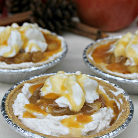 Mini No Bake Caramel Apple Cheesecake Pies #EffortlessPies