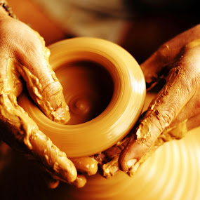 Magical hands... by BhanuKiran BK - People Body Parts ( clay, hands, magical, moment, potter, captured, pottery, pwchands,  )