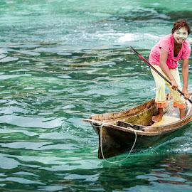 Bajau Canoe by Firdaus Zulkefili - Transportation Boats ( canoe )