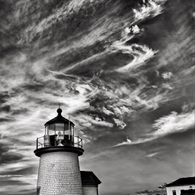 Brant Point by Robert Burger - Landscapes Beaches