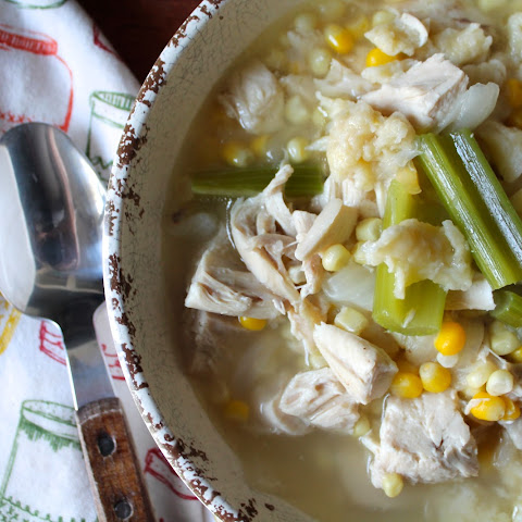 Chicken and Corn Soup with Rivels