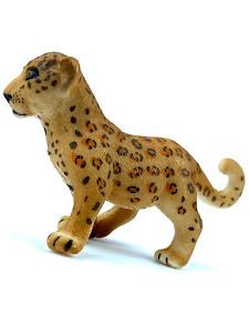 "Игрушка-фигурка серии ""Город Игр"", детеныш леопарда S, коричневый"