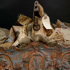 The French Antiques by Robin Rawlings Wechsler - Artistic Objects Antiques ( buckles, jardinere, shoe forms, old, vintage, antiques, shoes, french )
