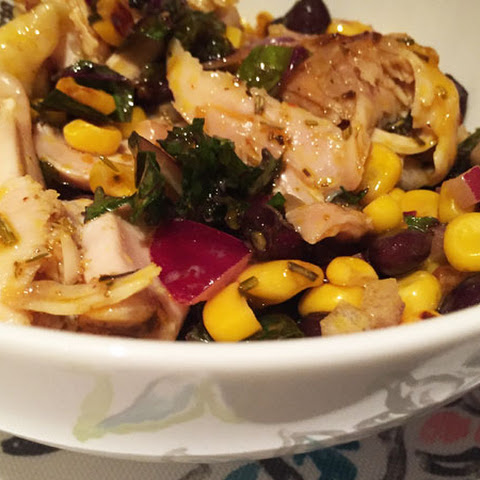 Warm Duck-Kale-Dijon Salad