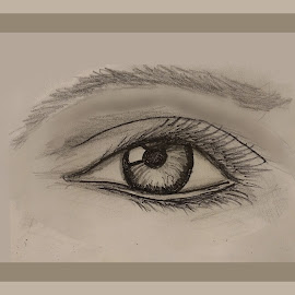 EYE SKETCH by Gerry Slabaugh - Drawing All Drawing ( pencil, sketch, womens eye, beautiful eyes, drawing, eye )
