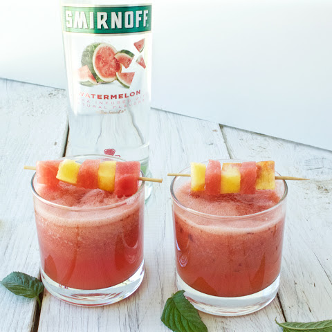 Watermelon and Peach Cocktail
