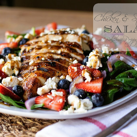 Chicken & Strawberry Salad w/ Balsamic Poppy Seed Dressing