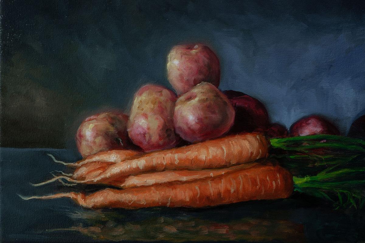 Potetmaleri – Utstilling