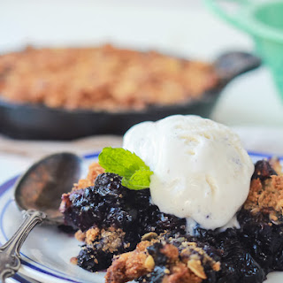 Ginger Blueberry Crisp