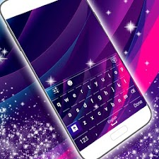 Purple Abstract Keyboard Theme