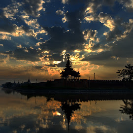 Sunrise in Maydalay by Aung Kyaw Soe - Landscapes Sunsets & Sunrises (  )