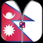 Nepal Flag Zipper Lock Screen APK for Bluestacks