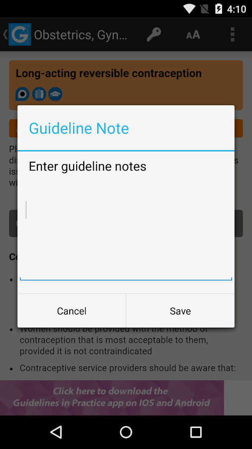 Guidelines Screenshot 4