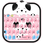 Cute Pink Puppy Emoji Keyboard Icon
