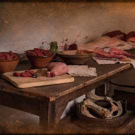 kitchen by Vibeke Friis - Food & Drink Meats & Cheeses ( food, meat, table, kitchen )