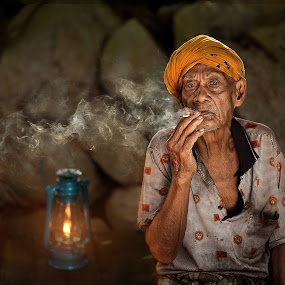 TAKE REST... by Abe Less - People Portraits of Men ( senior citizen )