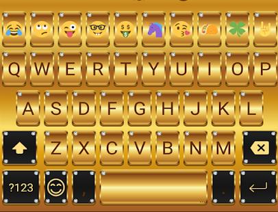 Gold Emoji Keyboard Theme APK for Bluestacks