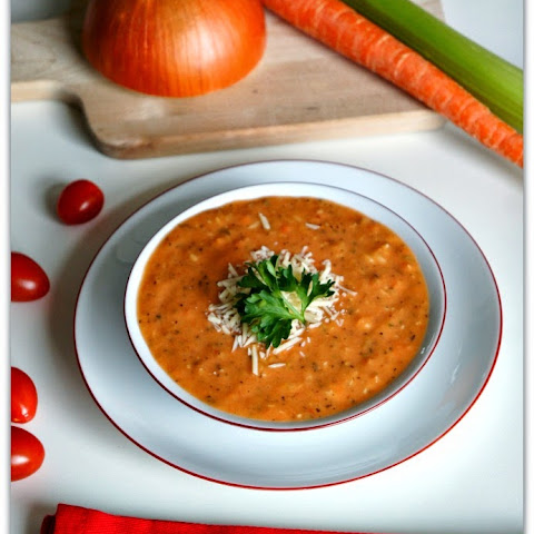 Slow Cooker Recipe for Skinny Tomato Basil Parmesan Soup