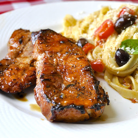 Honey Ginger Dijon Glazed Pork Chops