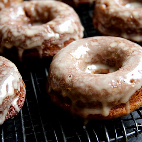 Baked Apple Cider Doughnuts with Maple Glaze