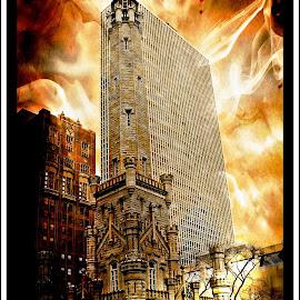 chicago fire by Jon Radtke - Digital Art Places ( chicago fire )