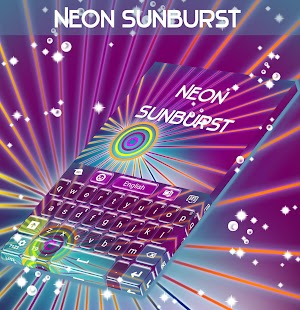 Neon Sunburst Keyboard - screenshot