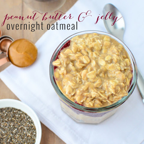 PB and J Overnight Oats