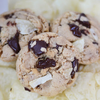 Almond Butter Chocolate Chunk Potato Chip Cookies
