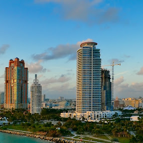 South of an Ocean Drive, Miami by Aleksey Maksimov - Landscapes Travel ( sky, florida, miami, buildings, ocean, usa,  )