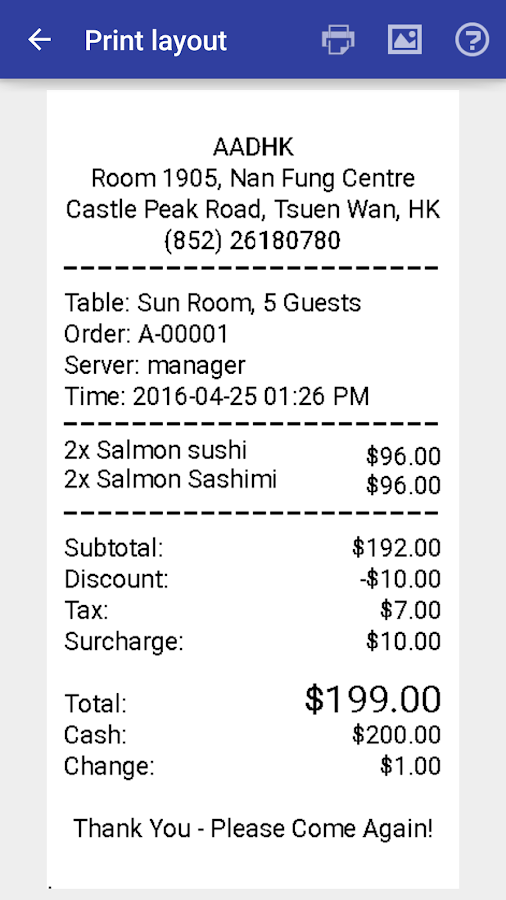Restaurant Point of Sale | Cash Register - W&O POS Screenshot 6