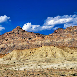 Rock layers by Bruce Newman - Landscapes Deserts (  )