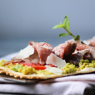 Beef and Avocado Flatbread #SundaySupper