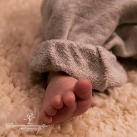 David's foot.2 by Rebecca McLachlan - Babies & Children Hands & Feet ( blanket, foot, baby, skin, filter )