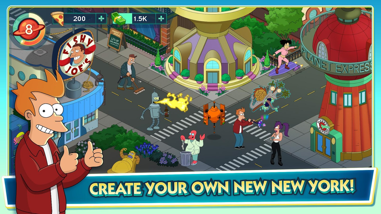 Futurama: Worlds of Tomorrow Screenshot 1