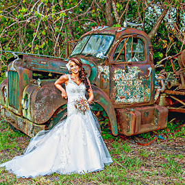 Country wedding by Terri Anderson - Digital Art People ( cowboy, old trucks, wedding, country,  )