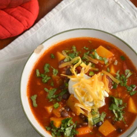 Spicy Butternut Squash Soup With Black Beans, Red Bell ...