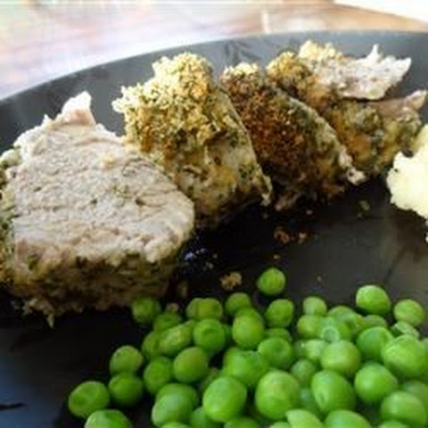 Parsley and Parmesan Crusted Pork Tenderloin
