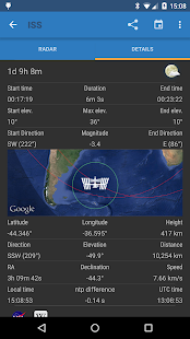 ISS Detector Satellite Tracker Screenshot