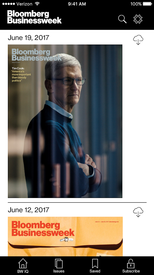 Bloomberg Businessweek+ Screenshot
